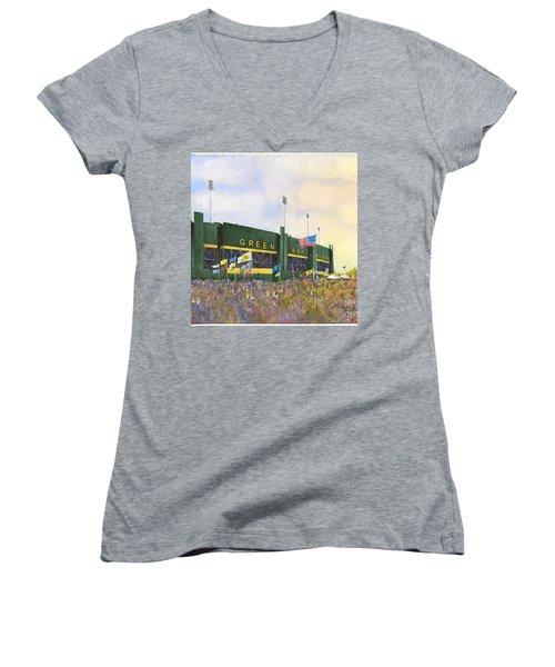 Classic Lambeau Women's V-Neck T-Shirt