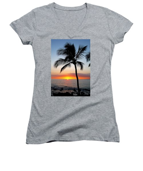 Classic Maui Sunset Women's V-Neck (Athletic Fit)