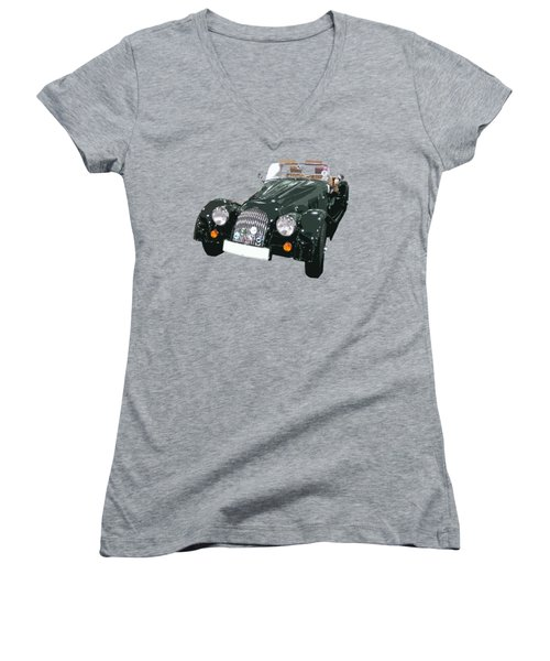 Classic Motor Art In Green Women's V-Neck