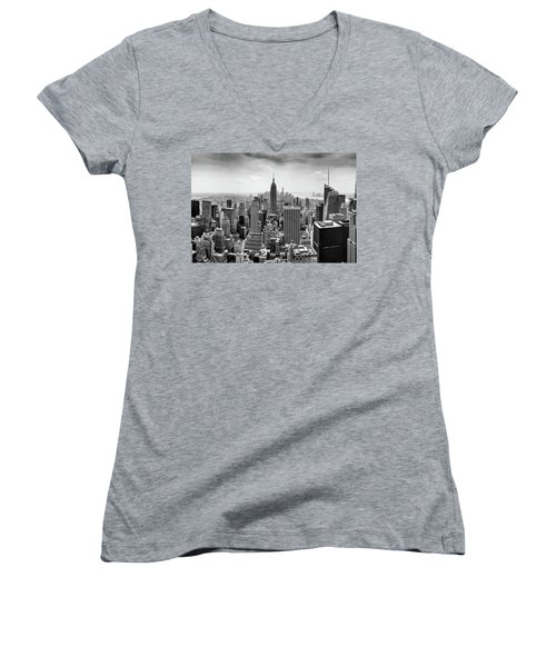 Classic New York  Women's V-Neck T-Shirt (Junior Cut) by Az Jackson