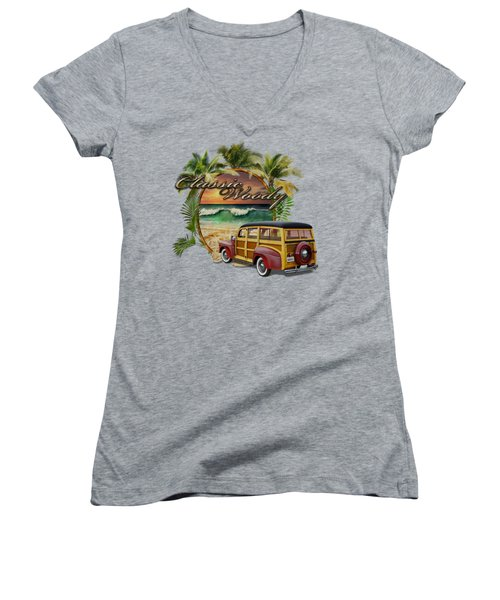 Classic Woody Women's V-Neck T-Shirt