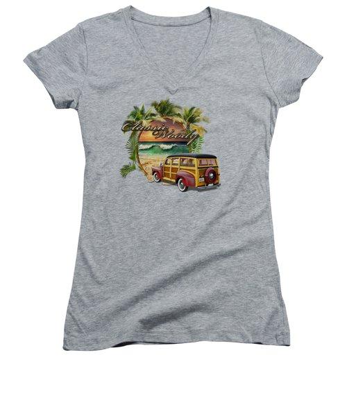 Classic Woody Women's V-Neck T-Shirt