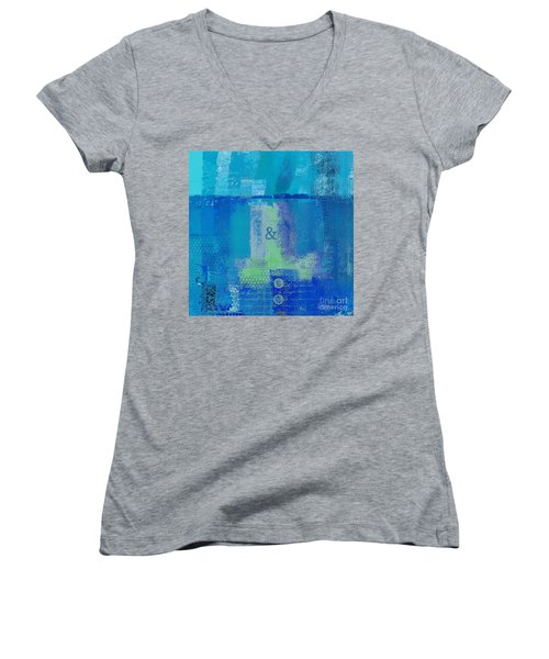 Women's V-Neck T-Shirt (Junior Cut) featuring the digital art Classico - S03c06 by Variance Collections
