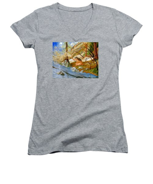 Clay Woman Women's V-Neck T-Shirt