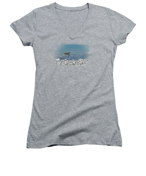 Clear Water  Women's V-Neck T-Shirt