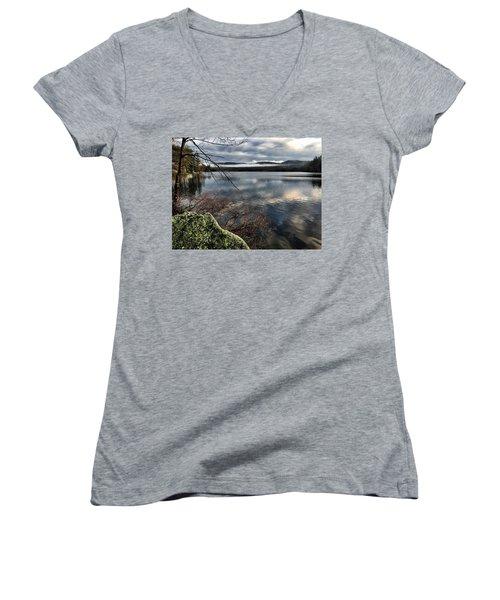 Clearing Sky Women's V-Neck T-Shirt (Junior Cut) by Betty Pauwels