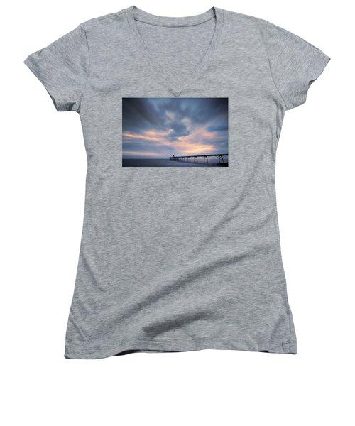Clevedon Pier Women's V-Neck T-Shirt