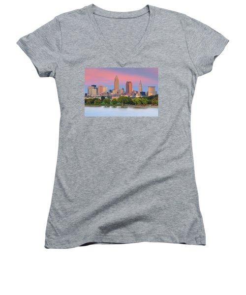 Cleveland Skyline 6 Women's V-Neck