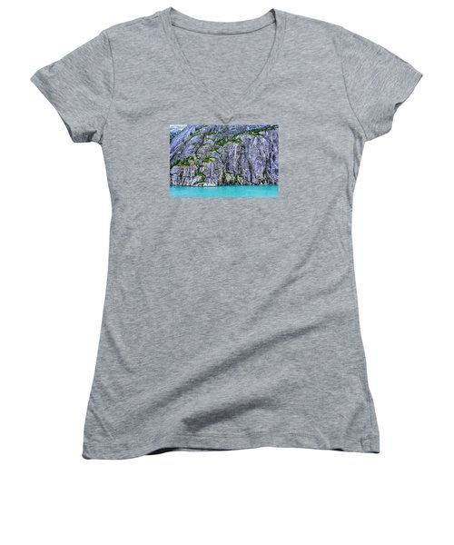 Cliffs Of The Inside Passage Women's V-Neck T-Shirt