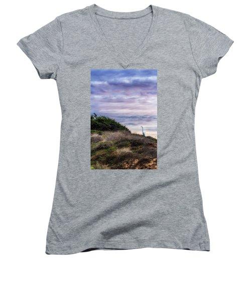 Cliffside Watcher Women's V-Neck