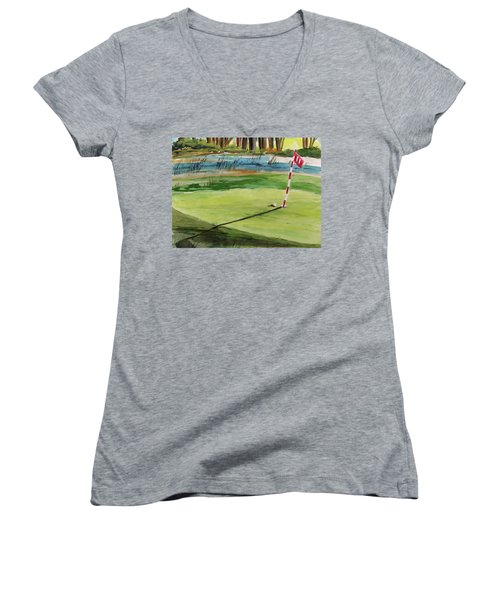 Close At The Eleventh Hole Women's V-Neck (Athletic Fit)