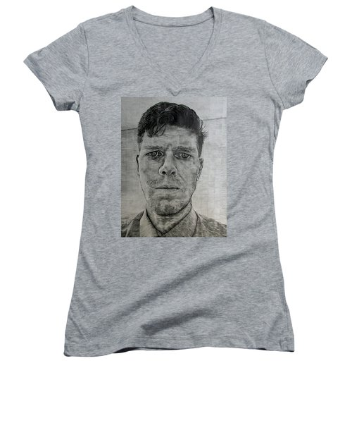 Close Self Portrait Women's V-Neck T-Shirt (Junior Cut) by Denny Morreale