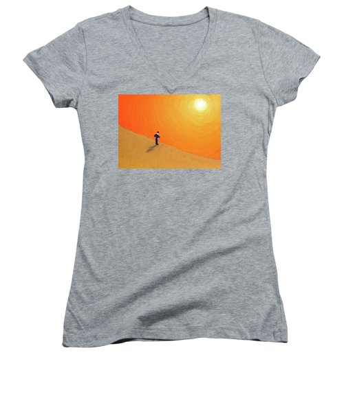 Close To The Edge Women's V-Neck