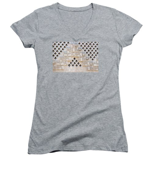Closeup Of Federal Courthouse Roswell Women's V-Neck (Athletic Fit)