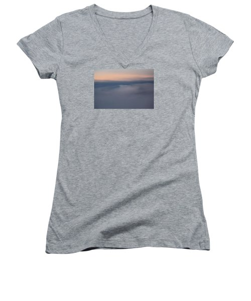 Cloud Abstract  Women's V-Neck T-Shirt (Junior Cut) by Suzanne Gaff