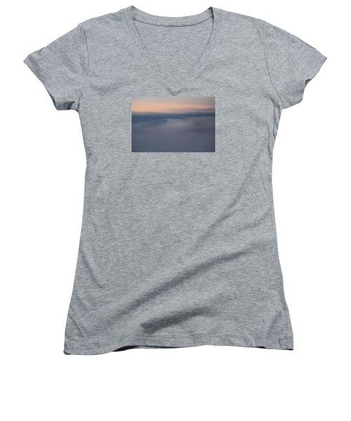Cloud Abstract  Women's V-Neck T-Shirt