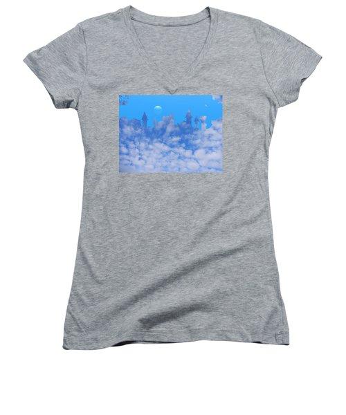 Cloud Castle Women's V-Neck T-Shirt