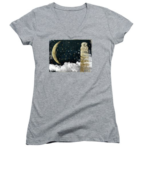 Cloud Cities Pisa Italy Women's V-Neck T-Shirt
