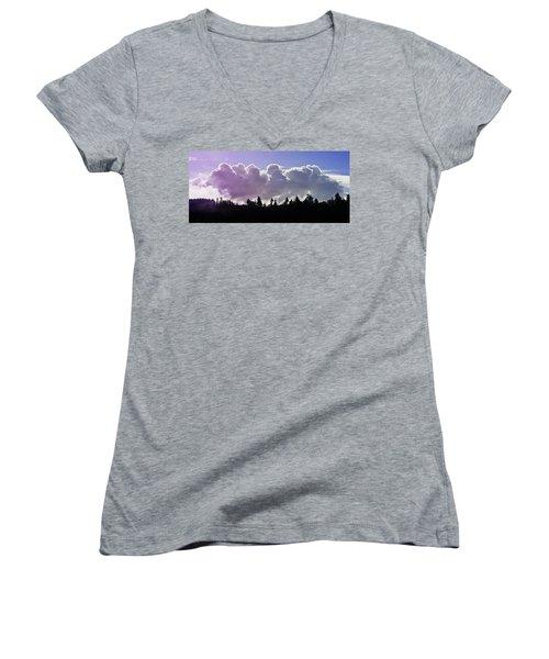 Cloud Express Women's V-Neck T-Shirt (Junior Cut) by Adria Trail