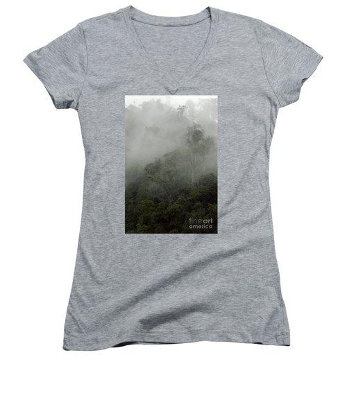 Cloud Forest Women's V-Neck T-Shirt (Junior Cut) by Kathy McClure
