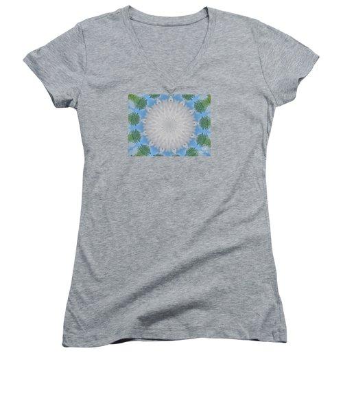 Cloud Medallion Women's V-Neck T-Shirt