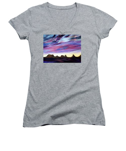 Cloud Movement Women's V-Neck T-Shirt