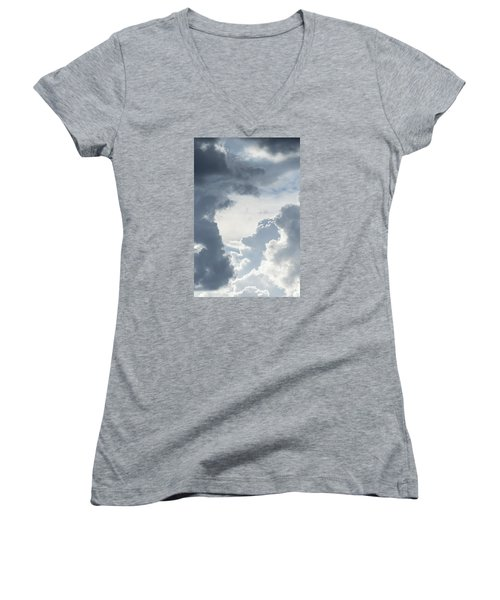 Cloud Painting Women's V-Neck (Athletic Fit)