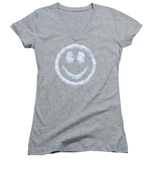 Cloud Smiley Women's V-Neck (Athletic Fit)