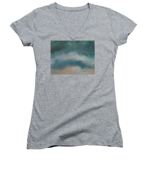Cloud Study 1 Women's V-Neck (Athletic Fit)