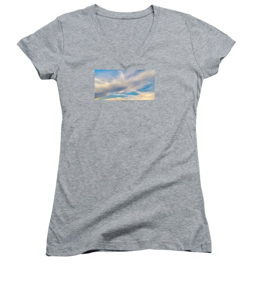 Cloud Wisps Women's V-Neck (Athletic Fit)