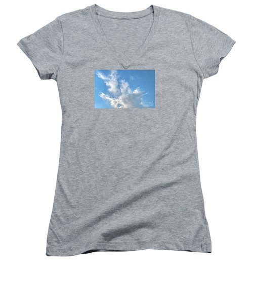 Cloud Wisps Too Women's V-Neck (Athletic Fit)