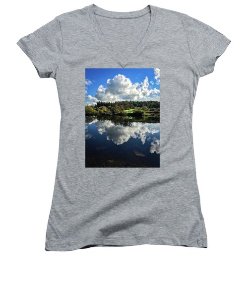 Clouded Visions Women's V-Neck (Athletic Fit)