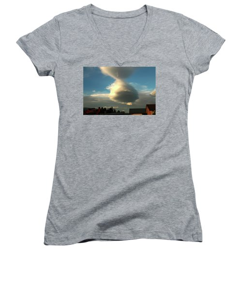 Cloudform With Rooftops Women's V-Neck
