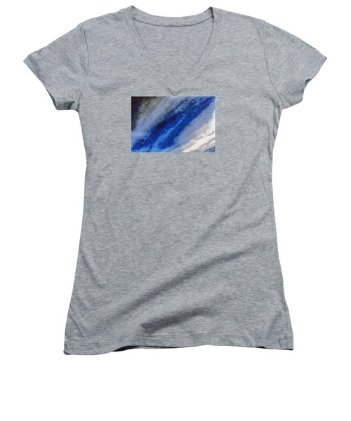 Women's V-Neck T-Shirt (Junior Cut) featuring the photograph Clouds 11 by Spyder Webb