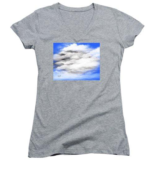 Clouds 2 Women's V-Neck T-Shirt
