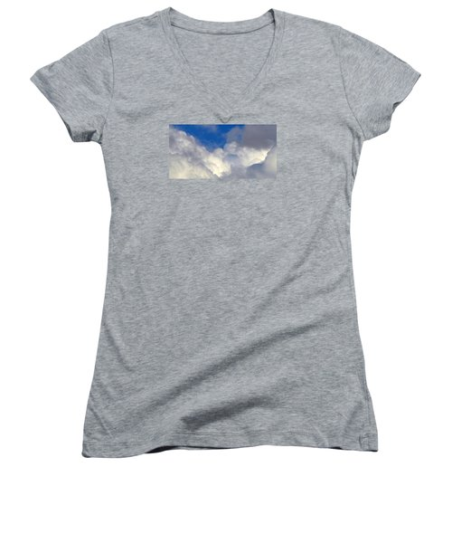 Clouds After The Rain Women's V-Neck (Athletic Fit)