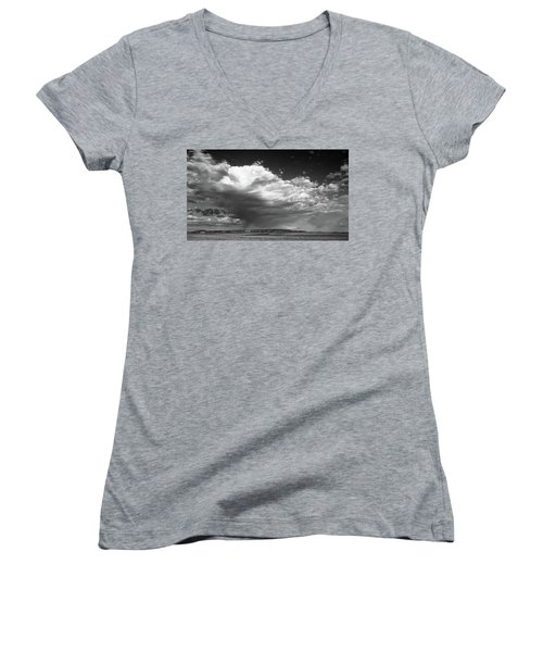 Clouds Along Indian Route 13 Women's V-Neck T-Shirt (Junior Cut) by Monte Stevens