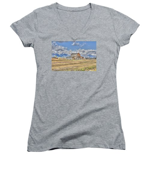 Clouds And Barn Women's V-Neck (Athletic Fit)