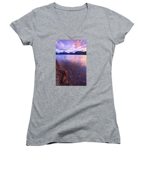Clouds And Wind Women's V-Neck T-Shirt (Junior Cut) by Chad Dutson
