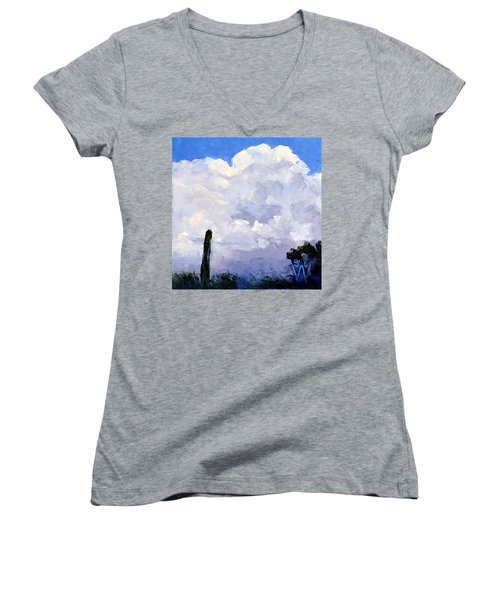 Clouds Building Women's V-Neck (Athletic Fit)