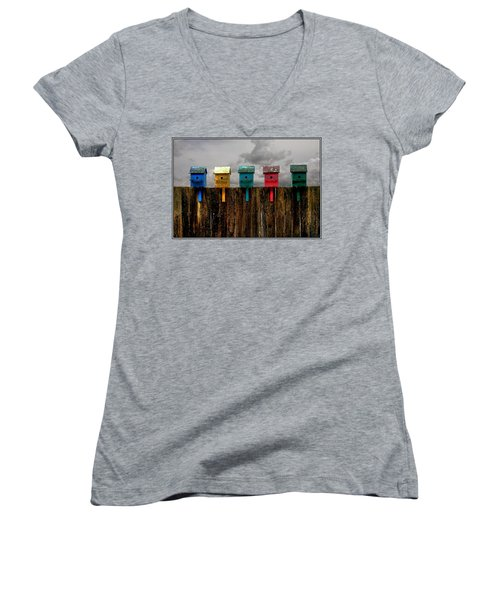 Clouds In The Flightpath Women's V-Neck T-Shirt