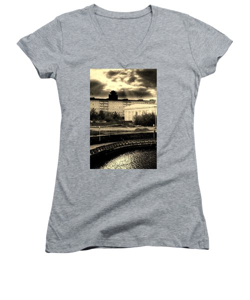 Clouds Over Minsk Women's V-Neck