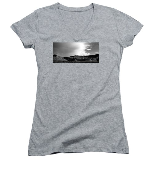 Clouds  Over The Mesa Women's V-Neck T-Shirt