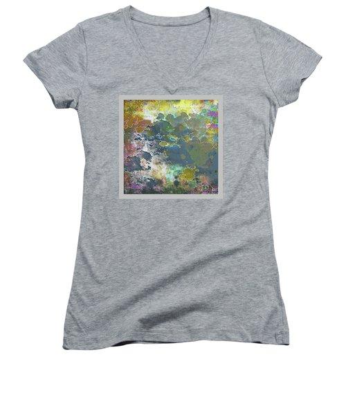 Clouds Over Water Women's V-Neck T-Shirt (Junior Cut) by Deborah Nakano