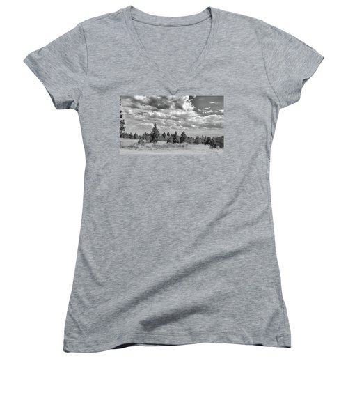 Clouds Roll In Women's V-Neck (Athletic Fit)