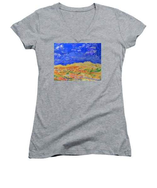Clouds Women's V-Neck T-Shirt (Junior Cut)