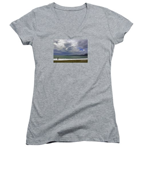 Cloudy Day Women's V-Neck