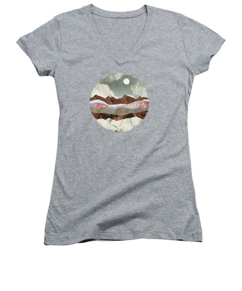 Cloudy Night Women's V-Neck (Athletic Fit)
