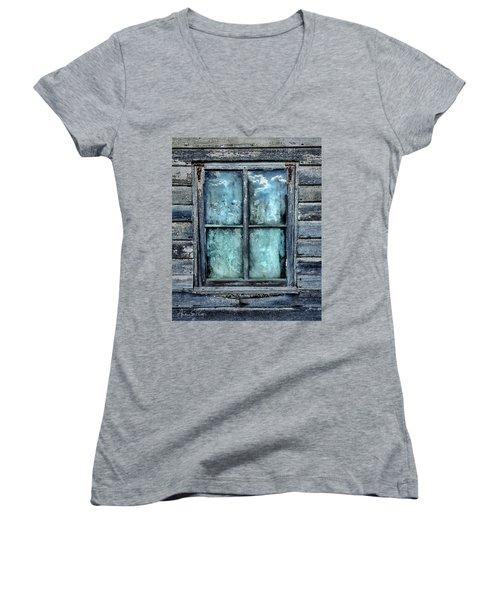 Cloudy Window Women's V-Neck