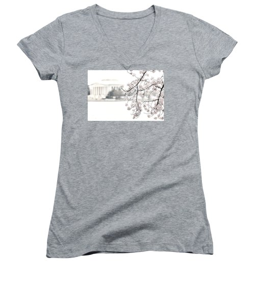 Cloudy With A Chance Of Tourists Women's V-Neck T-Shirt